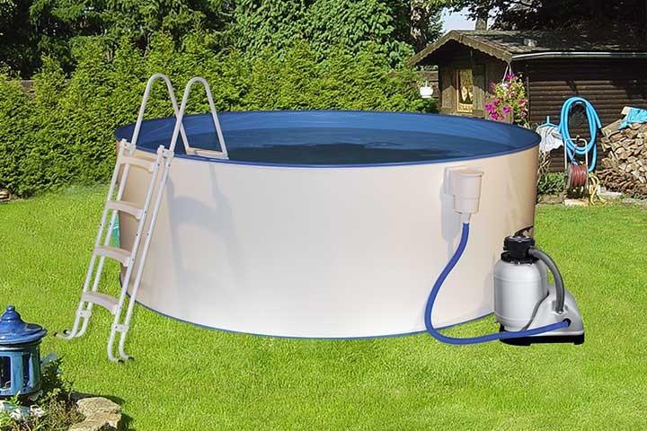 Stahlwandpool set 250 schwimmbad und saunen for Stahlwandbecken holzoptik