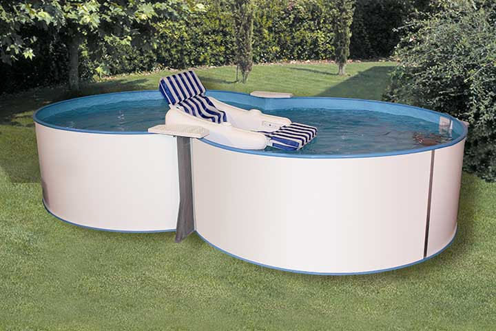 Schwimmingpool fur den garten for Gartenpool 250 cm