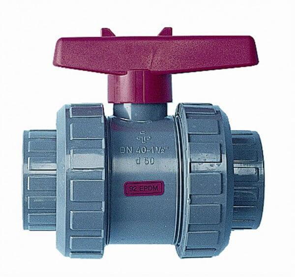 PVC Kugelventil, 75 mm