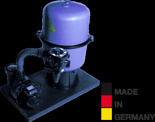 Sandfilteranlage HP 500/A11, Ø 500mm, 11m³/h, bis 50m³