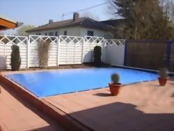 Schwimmbadabdeckung aufblasbar, rechteckig