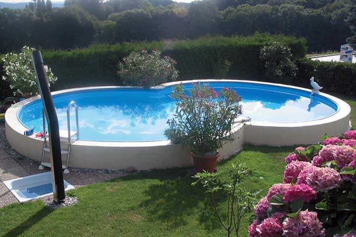 Prime achtformpool 625 x 360 x 120 cm einzelpool for Swimmingpool abverkauf