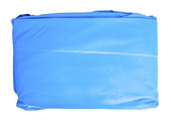 Poolfolie achtform, 432 x 250 x120 cm, 0,80 mm, überlappend, blau