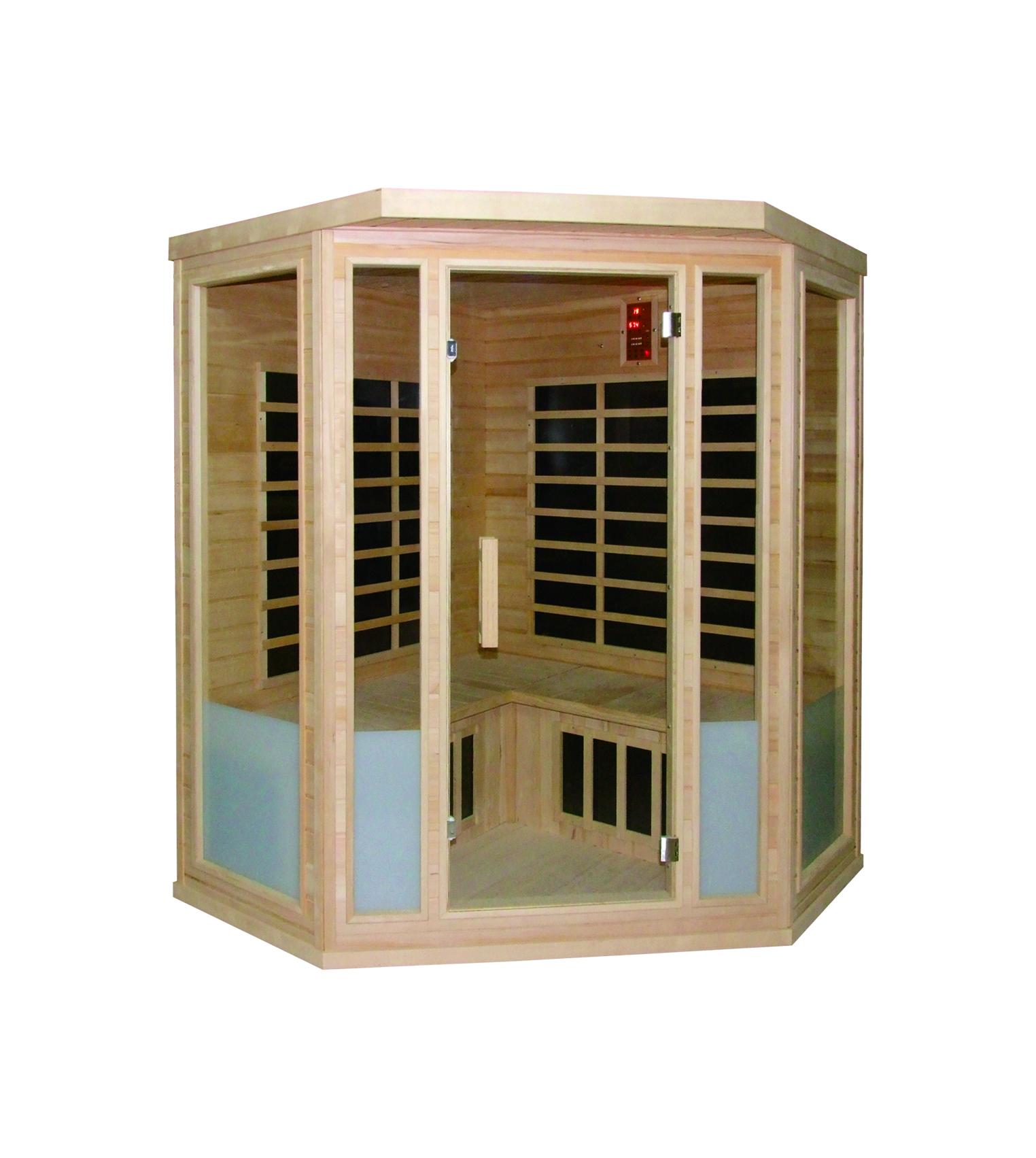 infrarotkabine vital 150x150x198 cm 4 personen infrarotkabinen mit vollspektrumstrahler. Black Bedroom Furniture Sets. Home Design Ideas