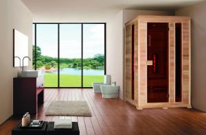 Infrarotkabine Classico 2, 150 x 100 x 195 cm, 3 Personen