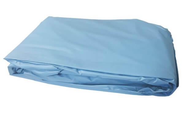 Poolfolie rund, 460 x 150-160 cm, 0,40 mm, überlappend, blau