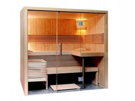 Elementsauna Panorama Large, 215x214x201 cm, 3 Personen