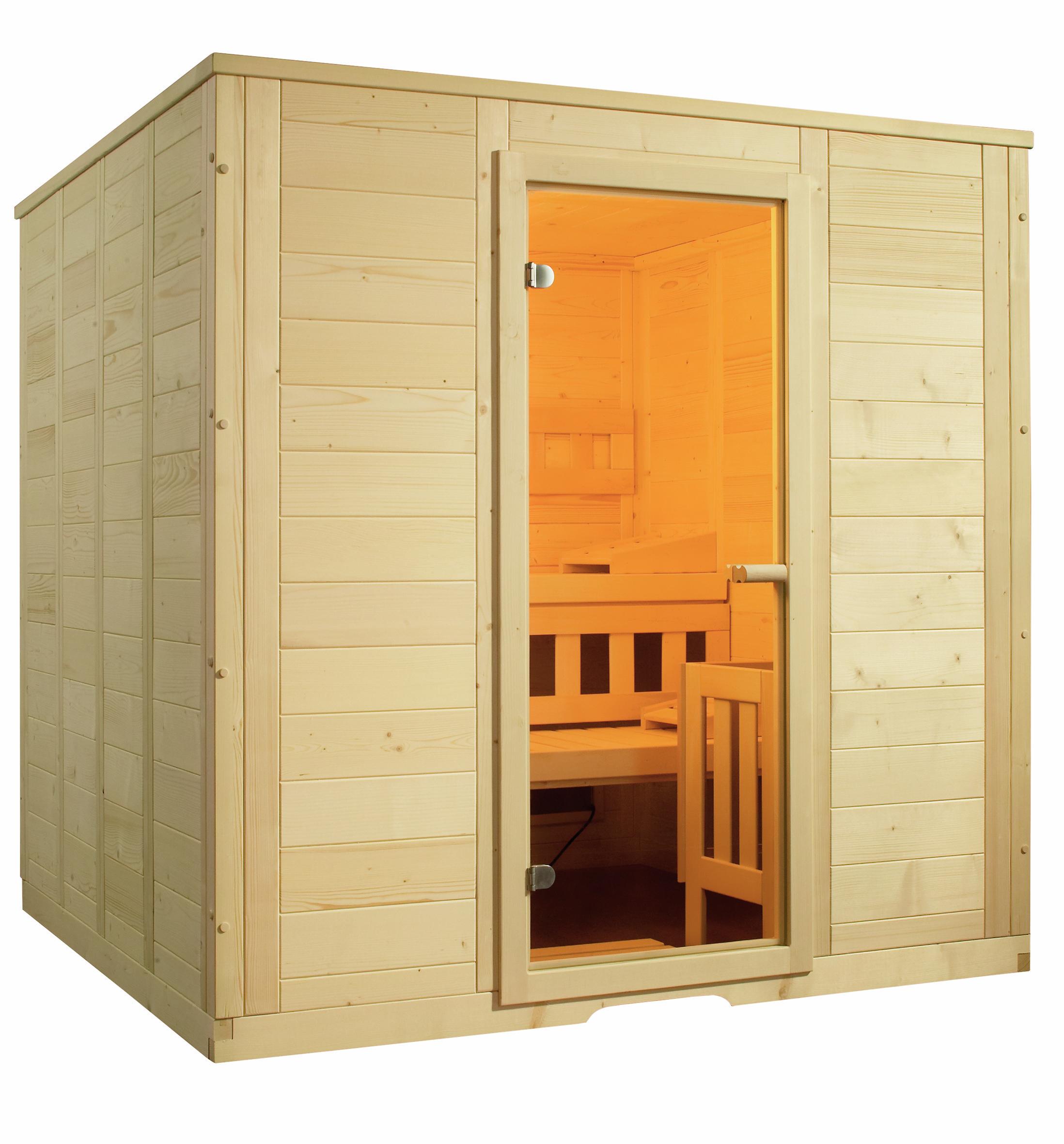 massivholzsauna wellfun large 205 2x206 4x204 cm 3 personen massivholzsaunen sauna sauna. Black Bedroom Furniture Sets. Home Design Ideas