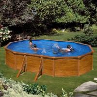 Feeling Pool Set 730 x 375 x 120 cm, Holzoptik