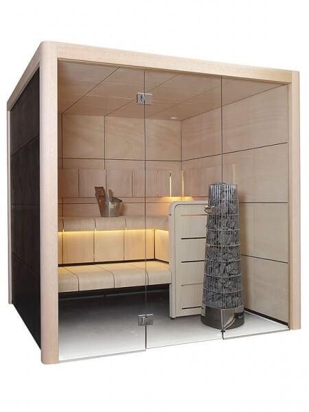 Sauna Claro S2121LS, 207x207x207 cm, 2 Personen