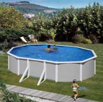 Feeling Pool Set 610 x 375 x 132 cm, grau