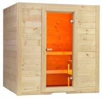 Elementsauna Basic Large, 187x195x204 cm, 2 Personen