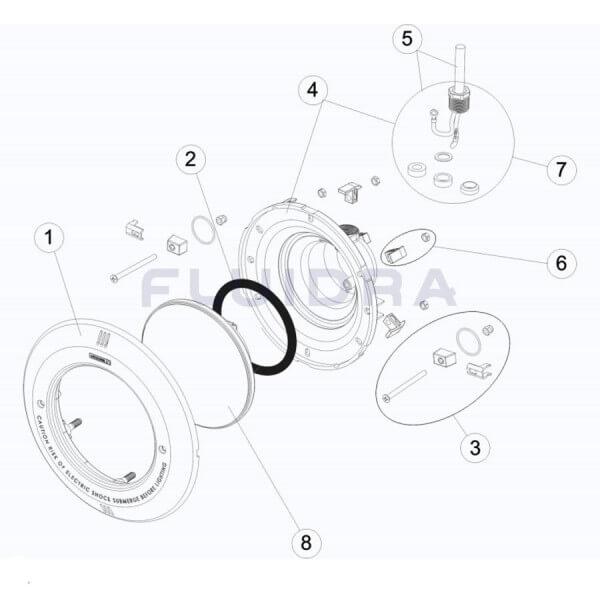 Quetschverschraubung/ Würgenippelsatz für Unterwasserscheinwerfer (4403010312)