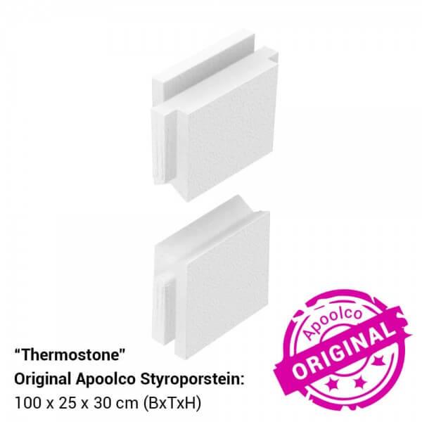 Styroporstein-Endschuber (2er Set)