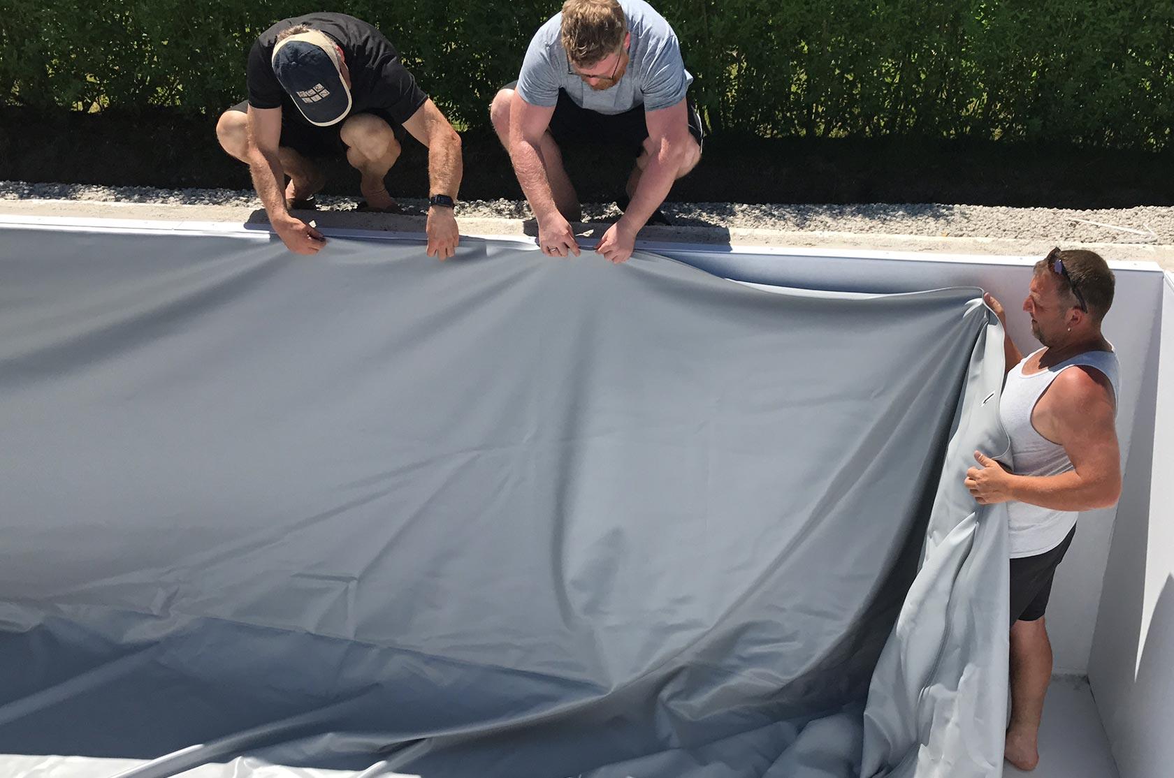 Styroporpool 800x400x150cm mit treppe zum selbstbau for Poolfolie montieren