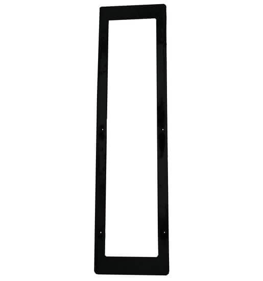 Edelstahlblende für IR-Strahler 350W, schwarz