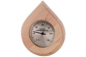 Thermometer Tropfenform Nadelholz