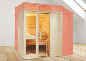 Sauna aus Massivholz - Sonderanfertigung Style