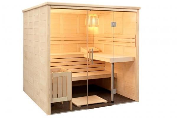 Sauna Alaska View, 206x208x204 cm, 3 Personen