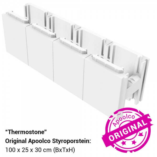 Thermostone Styropor Stein für Styropor Pools by Apoolco