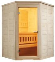 Massivholzsauna Wellfun Mini, 145x145x204 cm, 3 Personen