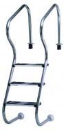 Einbau-Treppenleiter Edelstahl 150 cm