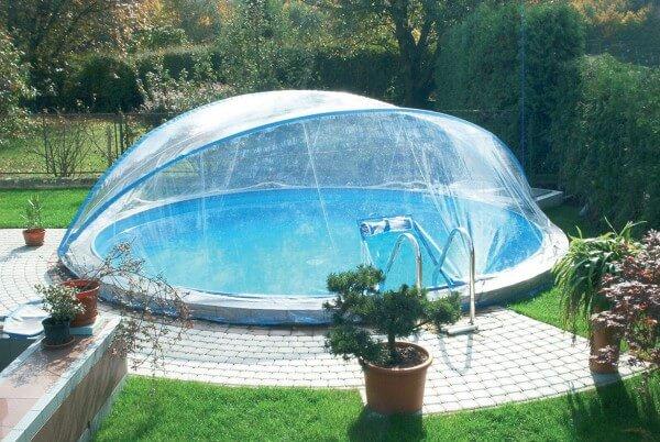 Cabrio Dome, rund, Ø 450/460 cm für schmalen Handlauf
