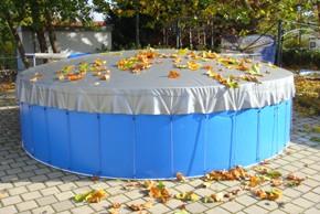 Schwimmbadabdeckung aufblasbar, rund