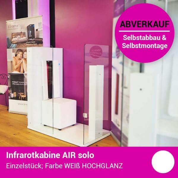 b-intense AIR solo offene Infrarotkabine in Weiß Hochglanz