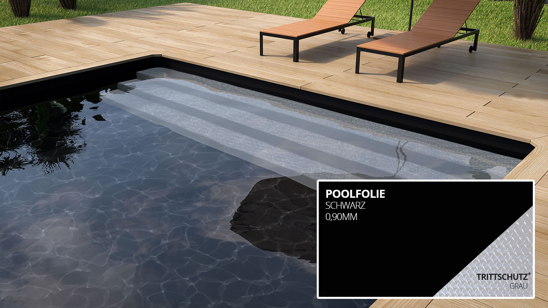 Styroporpools mit treppe fertige stufenauspr gung im for Poolfolie farbe
