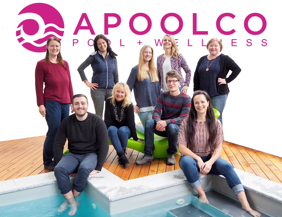Apoolco Team vor Pool