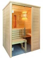Massivholzsauna Alaska Mini, 110x160x204 cm, 2 Personen