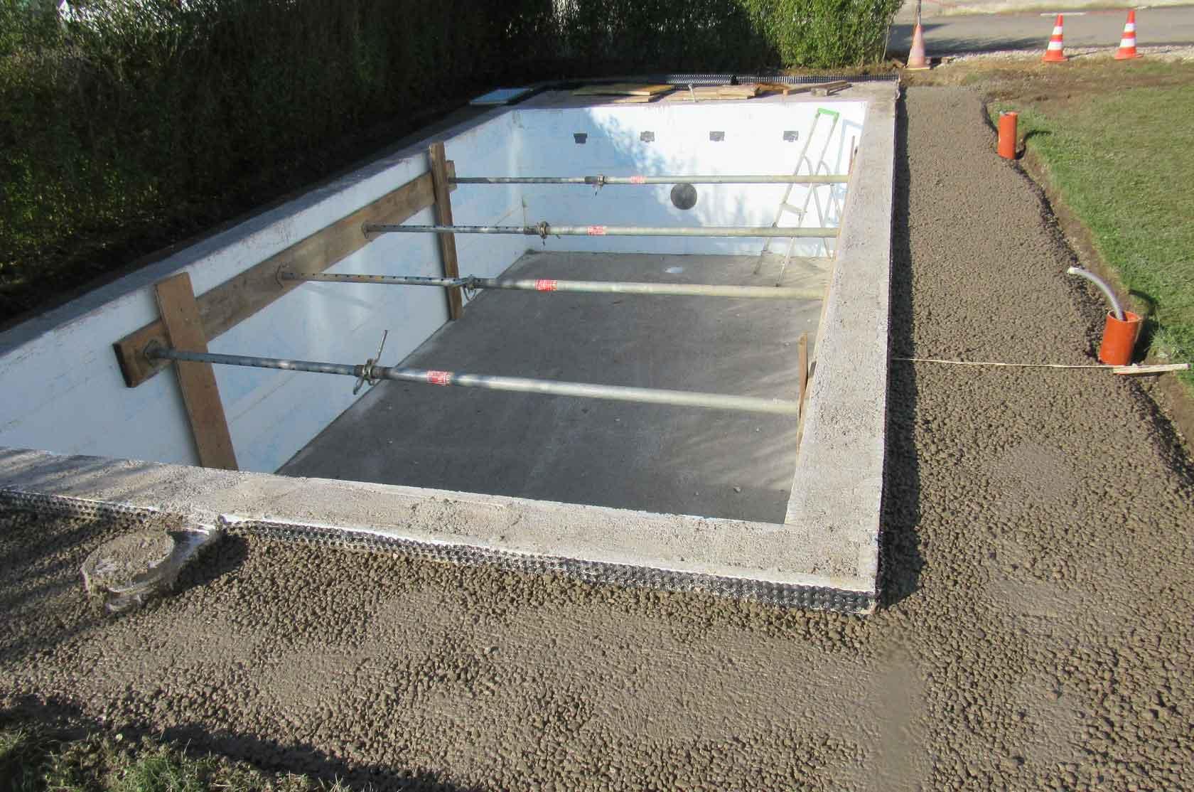 Styroporpool 6 00 x 3 00 x 1 50 m komplettset mit leiter for Poolfolie montieren