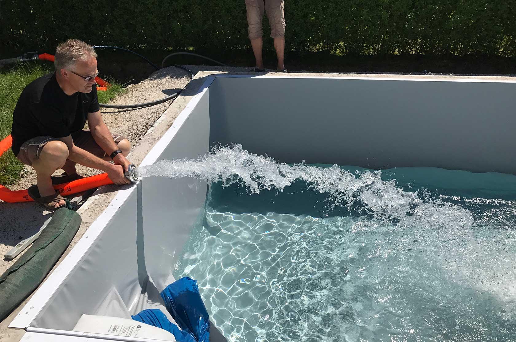Styroporpool 600 x 350 x 150 cm komplettset mit for Poolfolie montieren