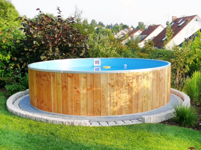 holzpool fun wood, Ø350 x 90cm, komplettset | apoolco
