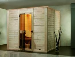 Massivholzsauna Casita Komplettset, ab 160x160x200 cm, 3 Personen