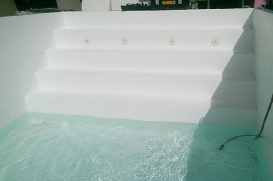 styroporpool 800x400x150cm mit treppe zum selbstbau. Black Bedroom Furniture Sets. Home Design Ideas