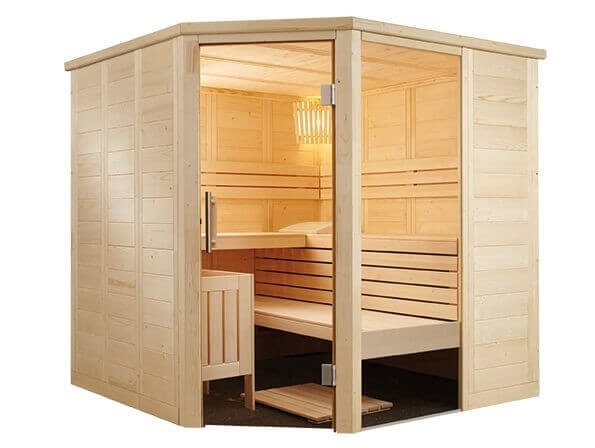 Sauna Alaska Corner, 206x206x204 cm, 3-4 Personen