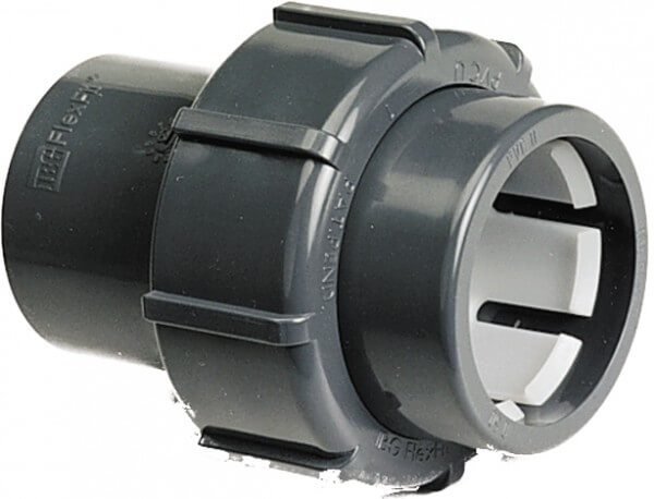 PVC Übergangsverschraubung, Ø 50 Klemm x Ø 50 Klebestutzen