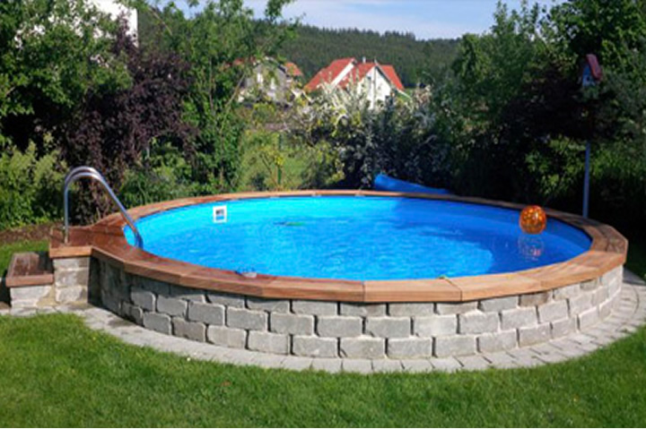 stahlwandbecken ovalpool ohne beton einbauen mit conzero oval On poolumrandung rundpool
