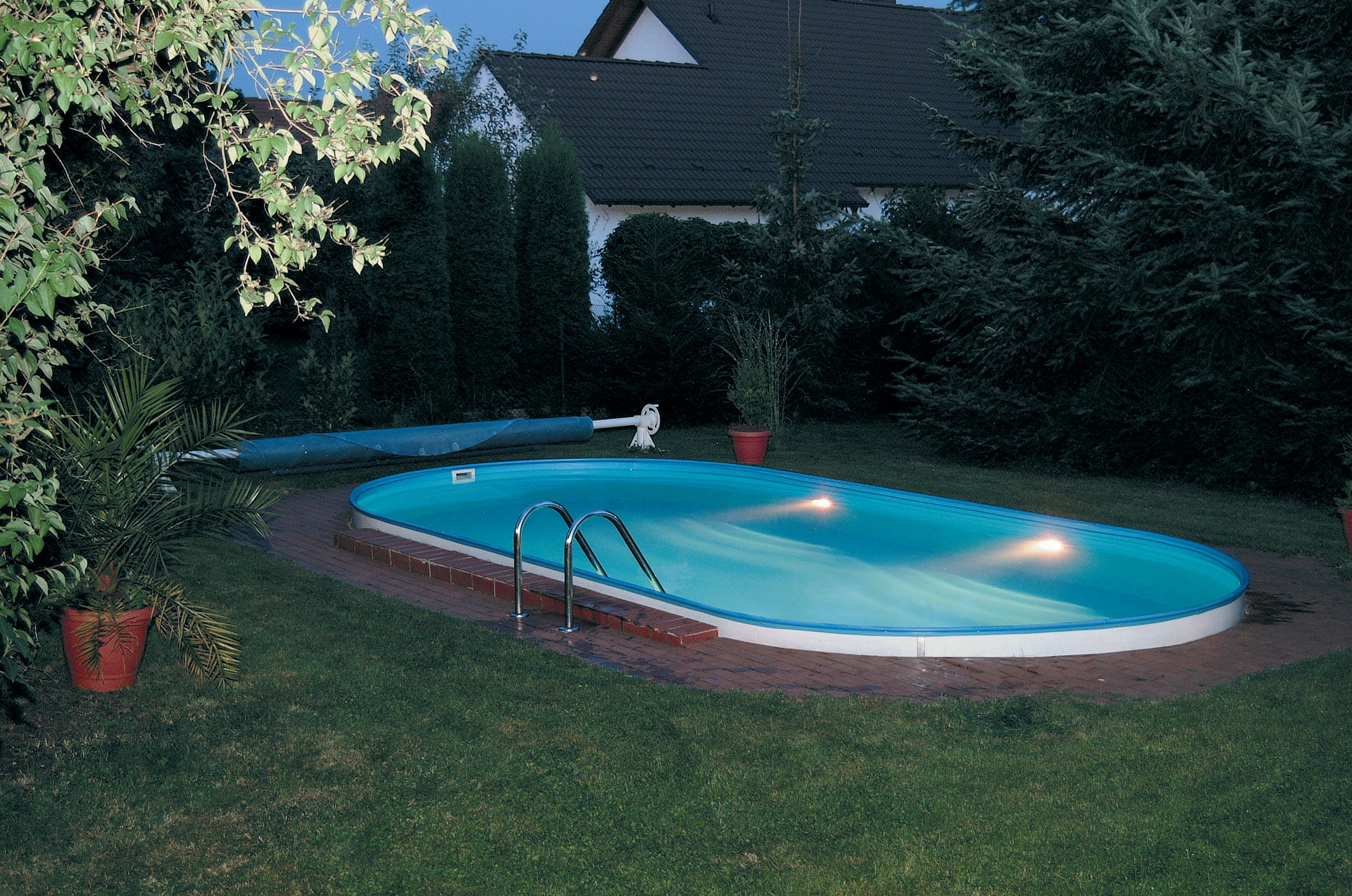 Trend pool set ovalform 450 x 250 x 120 cm mit for Swimmingpool abverkauf