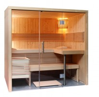 Elementsauna Panorama Small, 164x214x201 cm, 3 Personen