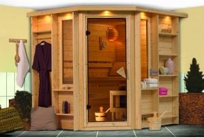 Sauna Cortona, 218x198x212 cm, 2 Personen