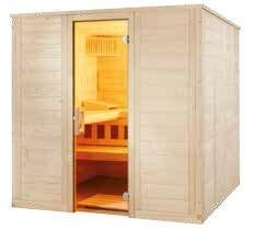 Sauna Wellfun Large, 205,2x206,4x204 cm, 3 Personen