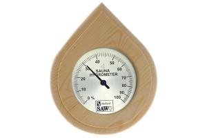 Hygrometer Tropfenform Nadelholz