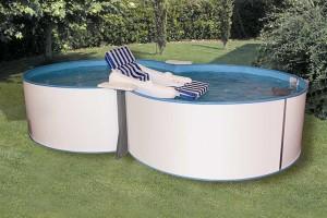 Trend Pool Set Achtform 625 x 360 x 120 cm mit Sandfilteranlage