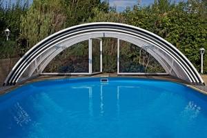 Schwimmbadüberdachung Standard Clear