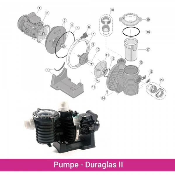 Pumpenplatte inkl. Gleitringdichtung 5P6R