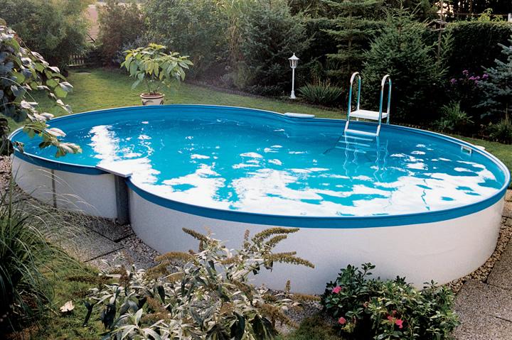 Prime achtformpool 725 x 460 x 150cm komplettset apoolco for Aufbauanleitung pool stahlwand